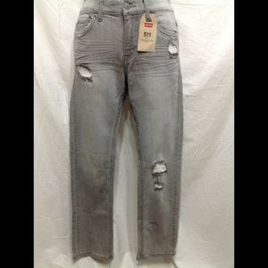 Girl's NWT size 14 Reg LEVI'S 511 distressed jeans